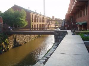 ワシントンのレンガ造りの工場