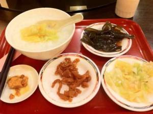 緑峰大飯店の朝食 台湾お粥