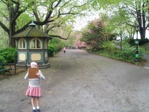 セントラルパークで桜