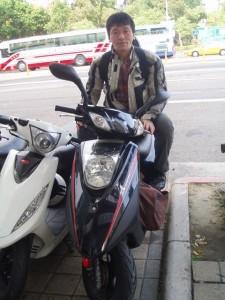 台湾を爆走する筆者