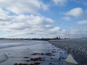 カナダはリバプールの浜辺